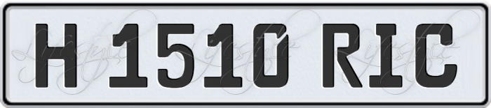 Historic Licence Plate Spain