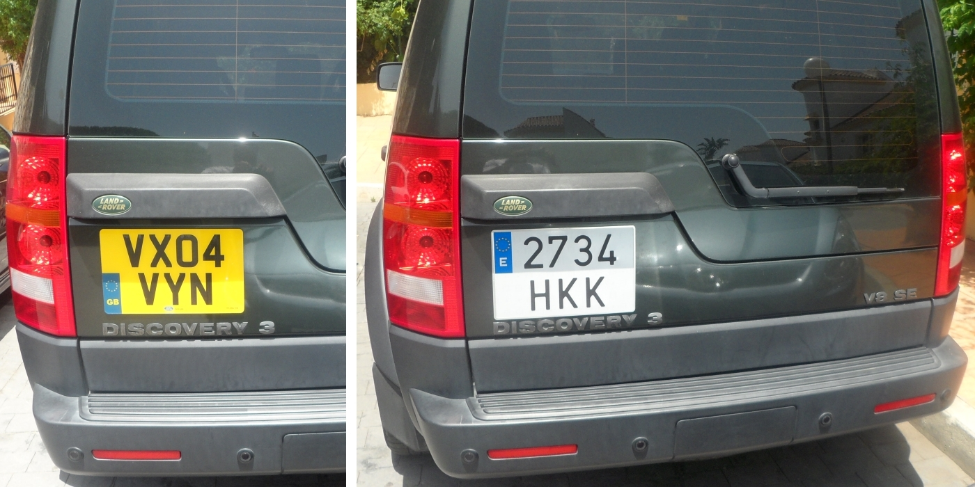 Spanish Number Plates