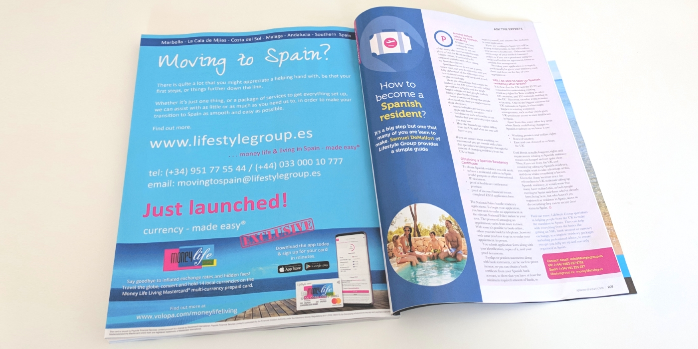 Lifestyle Group Feature In A Place In The Sun Magazine
