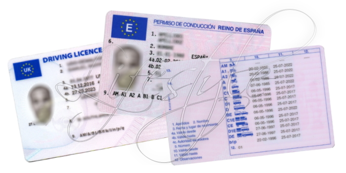 Exchange UK Driving Licence Spain