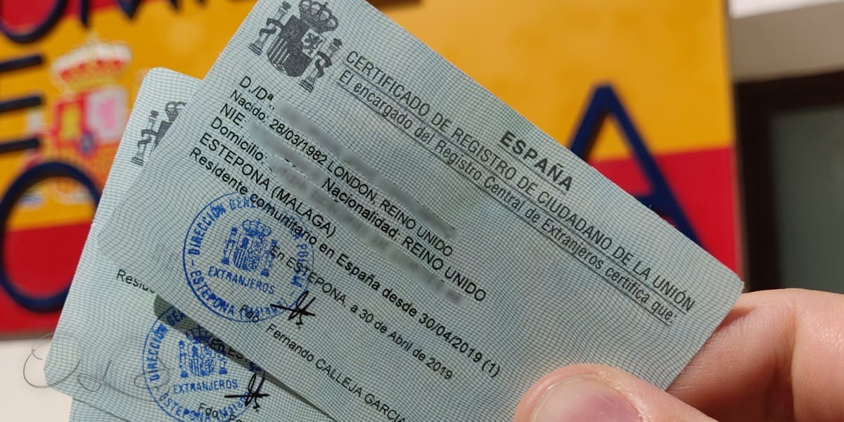 Spanish residency certificates for UK EU citizens
